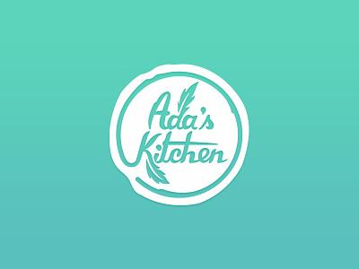 Ada's Kitchen vegan restaurant identity design logo