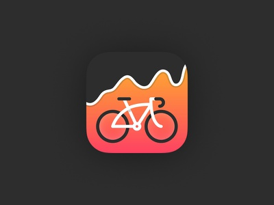Workout Stats App design ios bicycle cycling icon app workout