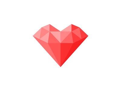 StrongHeart design identity diamond heart logo