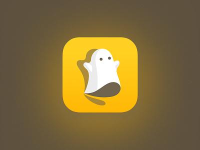 Snapchat Ghost design social media yellow ghost snapchat icon