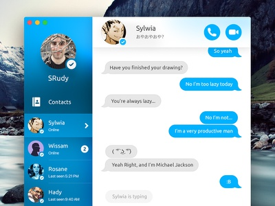 Skype for Mac Concept el capitan app ui design blue concept osx mac skype