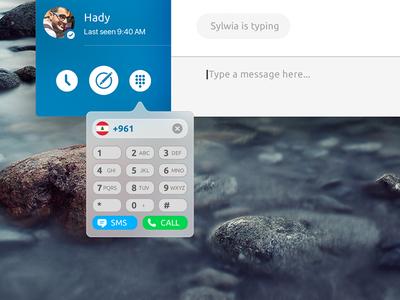 Skype for Mac Concept - Dial Pad el capitan app ui design blue concept osx mac skype