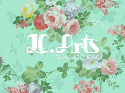 JC Arts crafts arts rose vintage identity logo