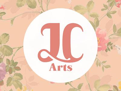 JC Arts vintage rose logo identity crafts arts