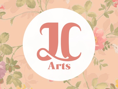JC Arts vintage rose logo identity crafts arts