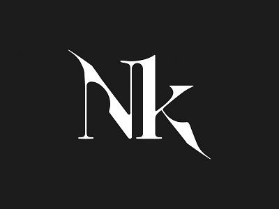 NK fashion photography typography logo