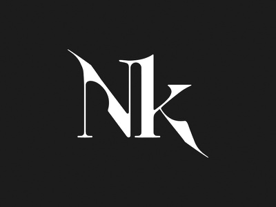 NK fashion photography typography logo
