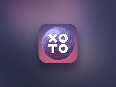 X O game icon o x tic tac toe space planet ios icon design game