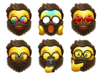 Bearded Emojis