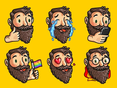 Beardmoji imessage stickers emoji beardmoji