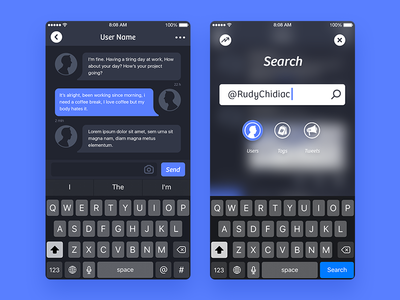 Jino - DM and Search ui twitter jino client app