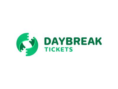 Daybreak ticketing design logo