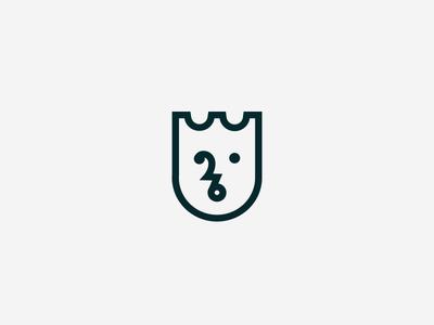 Tulip Crown / King mark symbol flower crown face simple brand mark logotype icon tulip