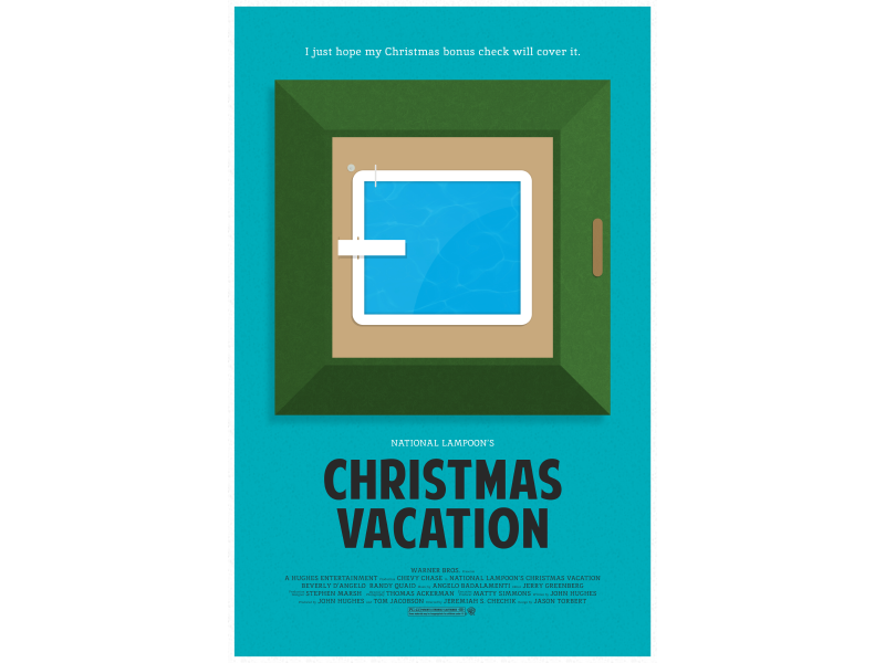Christmas Vacation - Movie Poster by Jason Torbert - Dribbble