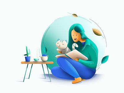 E-learning Illustration for header image landingpage illustration userexperience header illustration ux illustration design animation illustration art art illustrations