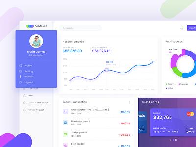 Banking Dashboard Design fluent minimal landingpage clean userinterface saas bankdashboard banking dashboard