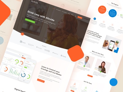 Alavida - Website redesign medical website design health website website redesign design userinterface landingpage website userexperience