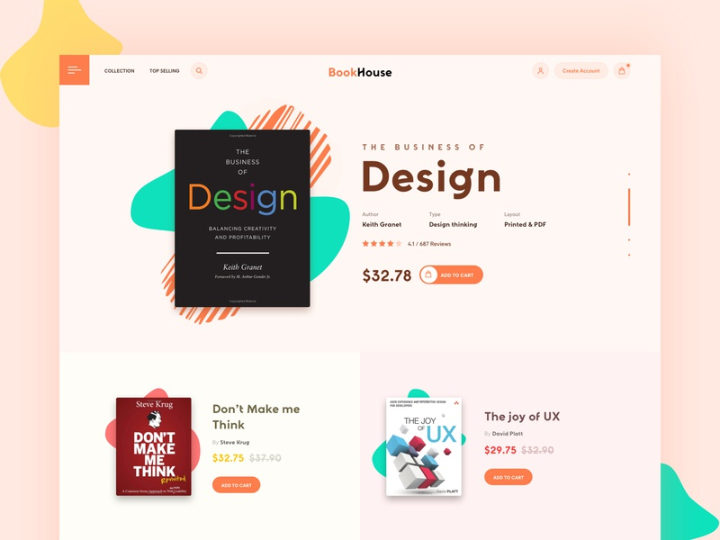 Book shop landing page ecommerce book landing page bookstore book shop ecommerce design website userexperience userinterface