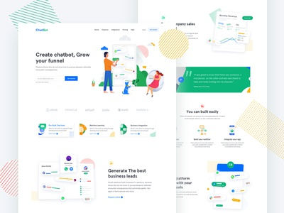 Chatbot Landing page illustrations product design user interface illustration website chatting illustration landing page illustration art user experience userinterface ar ai chatbot landing page landing page chat bot chat app chatbots chatbot