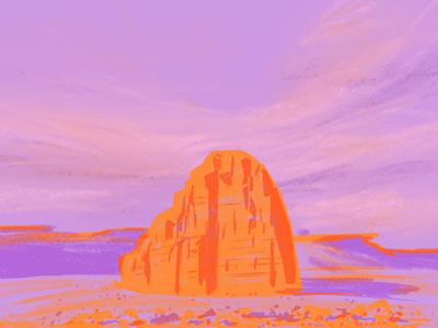 Monument outdoors desert illustration digital painting procreate landscape