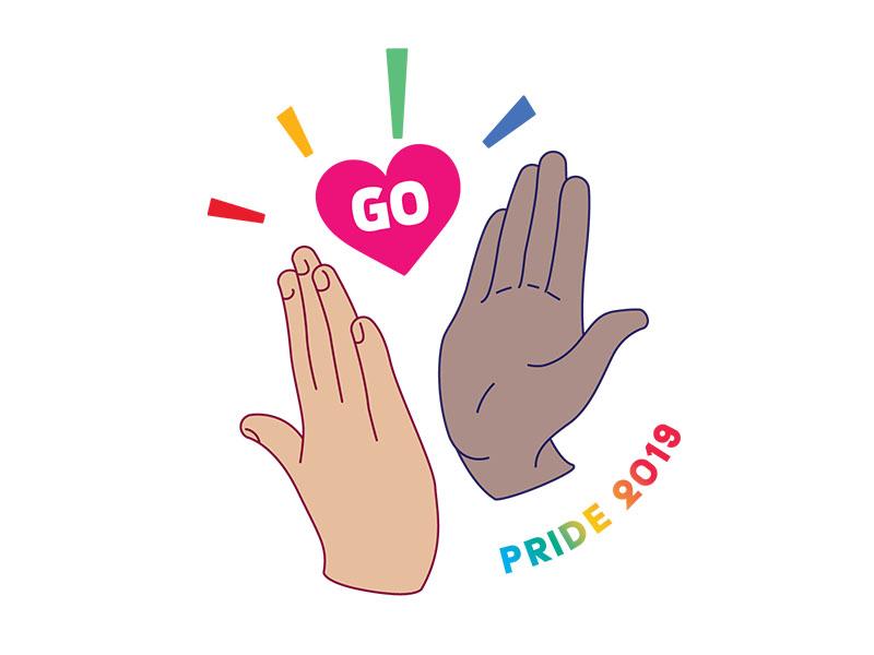 Pride Stickers pride month rainbow heart love pride vector illustration