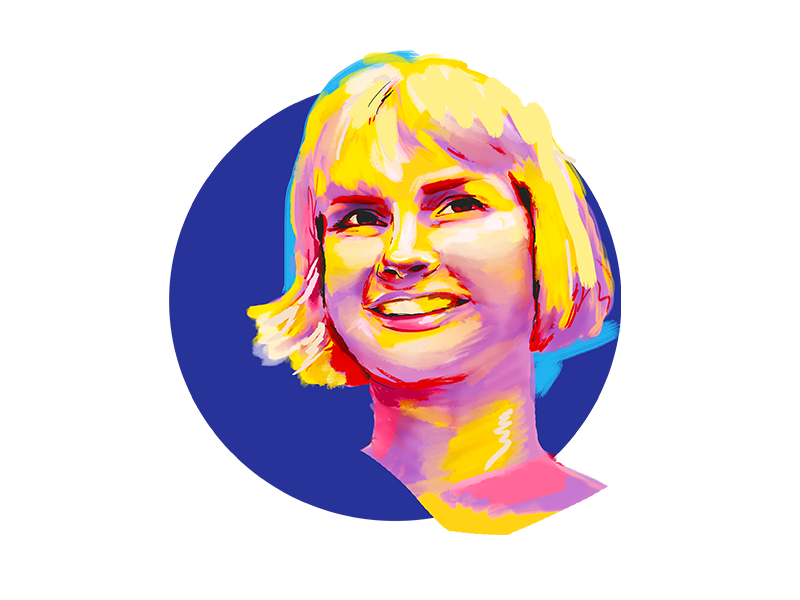 Self portrait 2 colorful person digital painting illustration portrait illustration portrait
