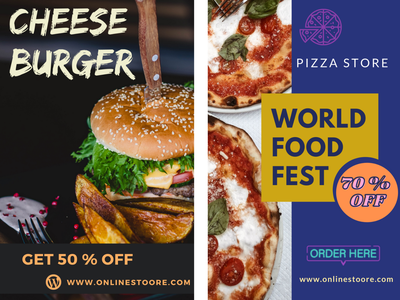 Food Poster-burger/pizza poster graphic  design design food poster art poster design poster burger pizza pizza poster burger poster food poster