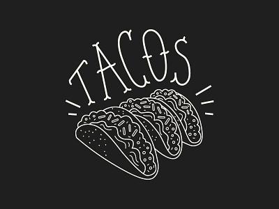 Little Ass Tacos illustration chalkboard food mexican taco restaurant lettering menu