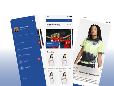 Jersey Shop UI Kit app illustrator androidappdesign aplication figma fi uitrend animation android design branding