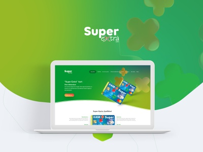 Landing Page Design for SuperExtra card web web design template branding ux ui modern landing