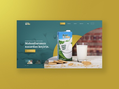 Azersud Website Concept milk product ux ui modern design web design web