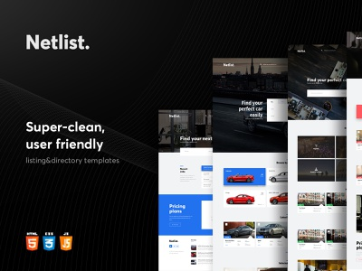 Netlist - Directory & Listing Theme search room real estate place map local businesses listings job house event directory clean car modern web typography design template web design ui