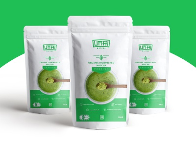 Umai Matcha Packaging design branding modern logo matcha tea package design packaging