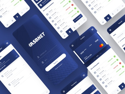 ASBnet -  Finance App application typography branding finance app design mobile app app ux design ui modern