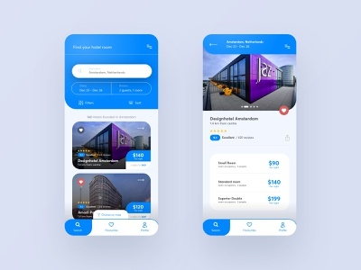 Hotel Search Concept interface experience branding modern concept hotel app app design application hotel app web design ux ui