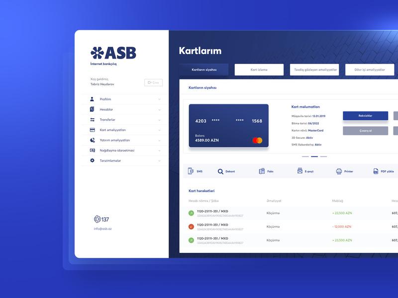 ASB - Azerbaijan Industry Bank brand app modern branding web design banking website banking website design website financial finance bank ux ui