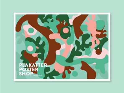 Plakatter indentity design graphic botanical plants art poster identity illustration