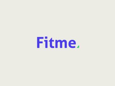 Fitme logo food personal me green purple health fitness logo