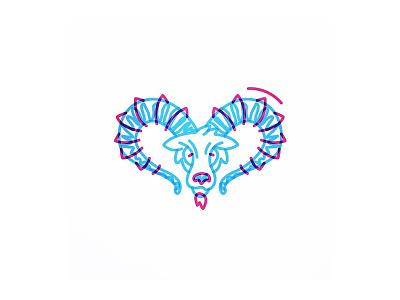 Ibex head animal goat ibex