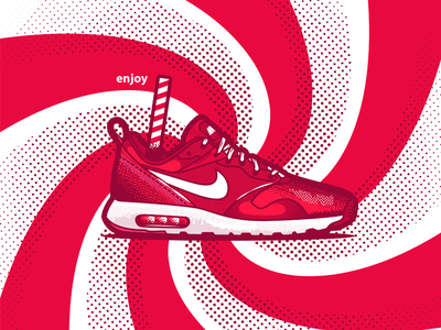 Nike sneakers stickers shoes enjoy red cocacola thea nike tavas