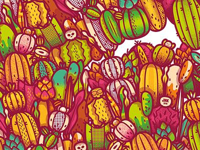 Cactus Pattern desert wild illustration pattern cactus