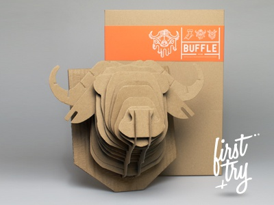 Buffle buffalo buffle animal paper cardboard