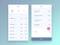 Mobile Coffee Shop app design concept