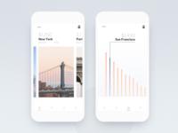 Travel app (Place info) app design concept