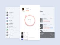 Music player app design concept