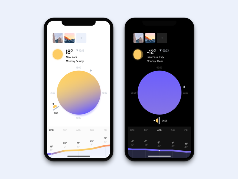 Weather App Concept minimal mobile weather app ios sky sun ui ux iphonex