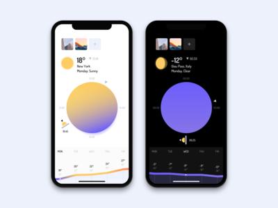 Weather App Concept minimal mobile weather app ios sky sun ui ux iphonex