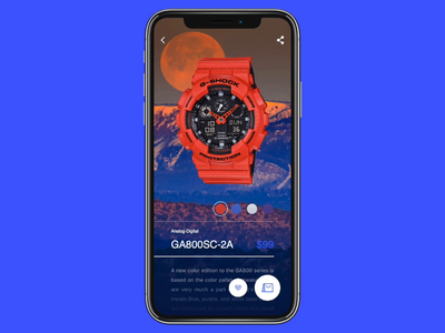 Watch App | G-Shock | Concept principle concept g-shock watch ui watch app watches sketch store ux ui mobile ios design app android mobile ios iphone animation interface flat clean simple