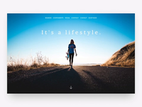 The Longboard Store arbor sketch design store shop longboard skate board board ui ux animation flat clean simple interface