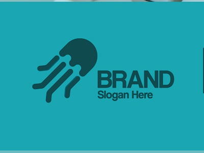 jellyfish vector typography illustrator designer graphicdesign graphic design brand branding illustrations logo almaghriby